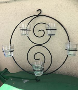 "Black iron Candle holders (5 cups). Size15"" W. Price $10. for Sale in Mission Viejo, CA"