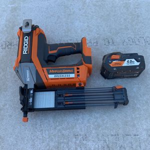 Rigid Nail Gun Brushless 18v Battery NO charger for Sale in San Diego, CA
