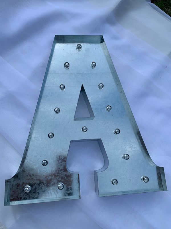 """20"""" Vintage Metal Letter Light """"A"""" CYBER MONDAY ONLY!!! $20"""