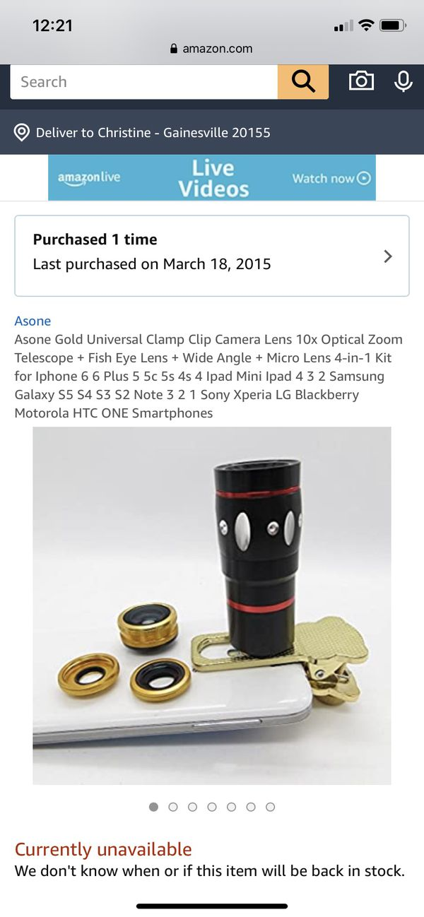 iPhone universal camera lens clips 10x optical zoom