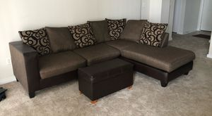Sectional Couch and ottoman for Sale in Lewisville, TX