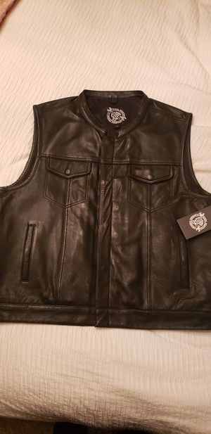 Motorcycle Leather Club Style Vest for Sale in Visalia, CA