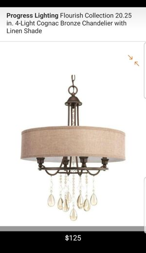 4 light bronze chandelier for Sale in Bakersfield, CA