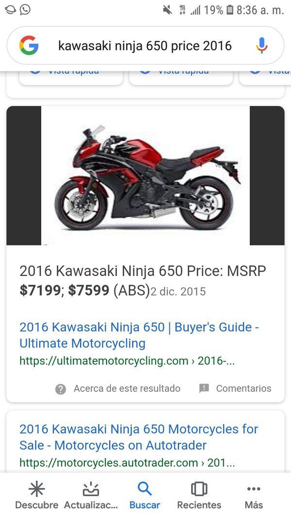 Kawasaki ninja ccc 650 years 2016