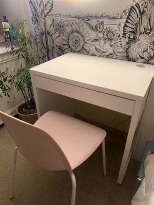 Ikea Micke Desk and Chair for Sale in Hillsboro, OR