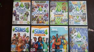 Sims 3 and 4 with multiple expansion packs for Sale in Littleton, CO