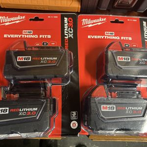 4 Milwaukee 3.0 XC batteries New for Sale in Naperville, IL