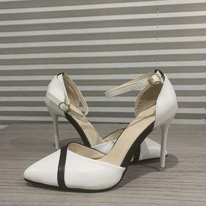 White/Black Ankle Strap Heels for Sale in Fairfax, VA