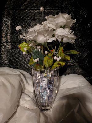 Elegance Artificial Silk Flower Arrangement long stem (Glass) Custom made - for Sale in Silver Spring, MD