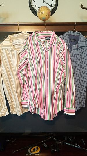 Business and eve dress shirts , mens medium size, all six for $120 ,(15 1/2)neg. for Sale in Tomball, TX