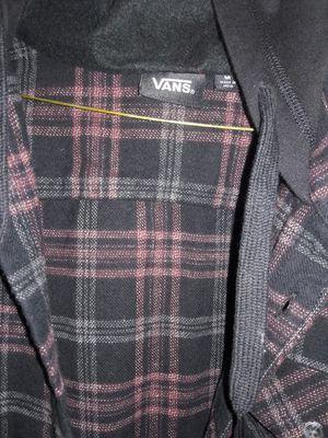 Men's Vans flannel with hood for Sale in Rosemead, CA