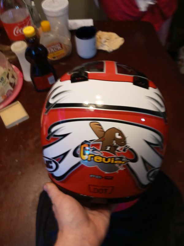 HJC Motorcycle helmet. Excellent condition. Size medium. DOT/Snell approved. 75.00