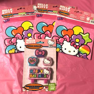 Hello Kitty Treat Bags 24 total & Birthday candle set New for Sale in Boynton Beach, FL