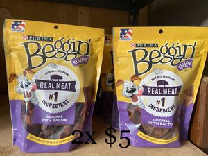 Beggin dog treats 2x $5 for Sale in Vancouver, WA