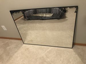 Wall Mounted Metal Mirror, (30x40, Black Glossed Aluminum) for Sale in Gig Harbor, WA