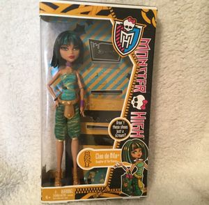 Monster High Cleo de Nile I Heart Love Shoes Doll Original Box Acessories RARE for Sale in Goodlettsville, TN
