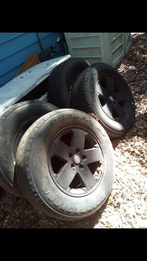 jeep rims tires..GREAT PRICE for Sale in Largo, FL