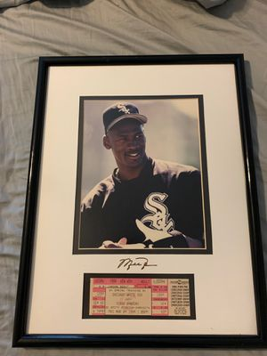 Framed Jordan picture with game ticket for Sale in AZ, US