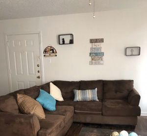 Brown Couch/ Sectional for Sale in Irving, TX