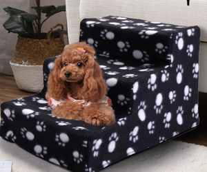 Dog pet stairs 4 steps folding climb for couch bed block for Sale in Fontana, CA