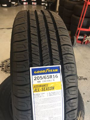 205/65/16 New set of Goodyear tires installed for Sale in Rancho Cucamonga, CA