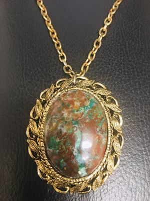 Rare vintage silver Oval Pendant & Brooch necklace! for Sale in Carmichael, CA