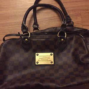 Woman's Designer Light-Brown Checkered Handbag for Sale in San Bernardino, CA