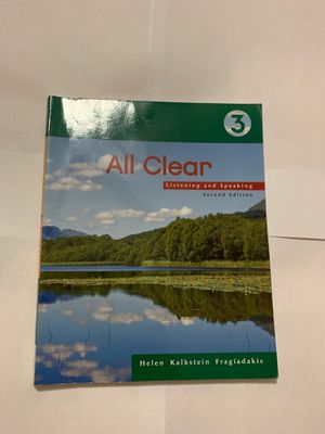 All clear Listening and Speaking (second edition ) for Sale in Opa-locka, FL