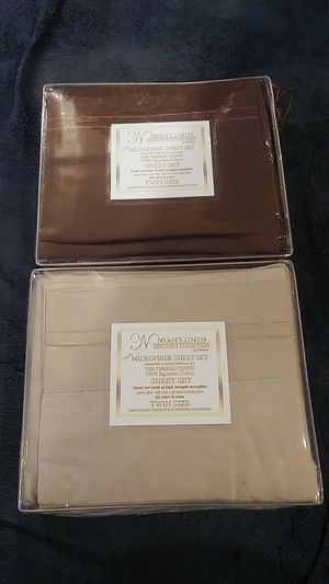 100% cotton linen sheets Brown or beige available brand new $10.00 each your choice or both for $17.00 for Sale in San Bernardino, CA