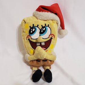 "TY Spongebob Squarepants Jolly Elf Plush 8"" Stuffed Animal 2004 Christmas for Sale in La Grange, IL"