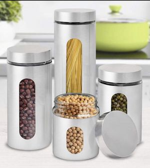 Stainless steel glass canisters for Sale in North Highlands, CA