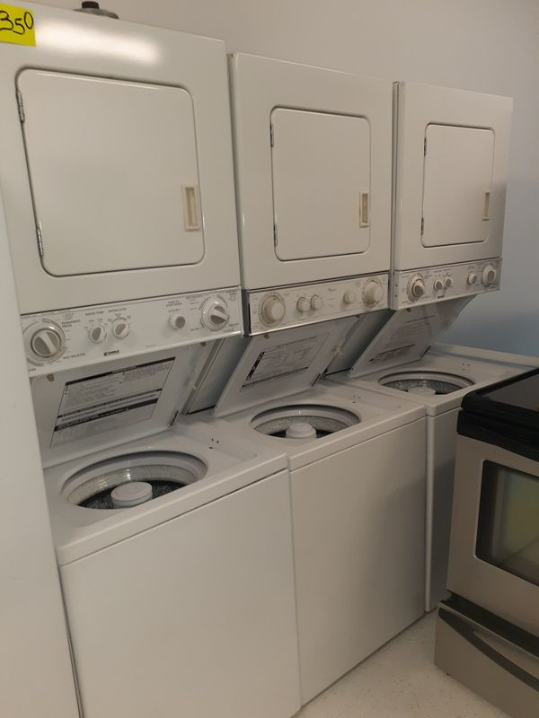 Kenmore stackable washer and electric dryer set in excellent condition with 90 days warranty
