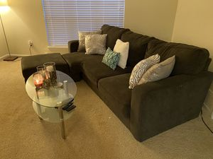 Sectional couch and coffee table for Sale in Cary, NC