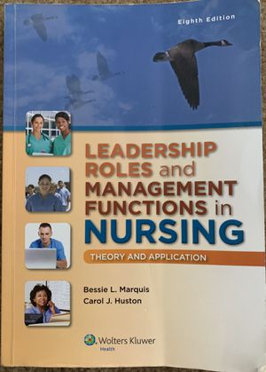 Leadership Roles and Management Functions in Nursing (Theory and Application) for Sale in Orlando, FL