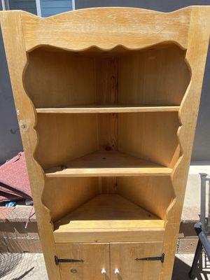 Farmhouse Style Corner Shelf Cabinet for Sale in Azusa, CA