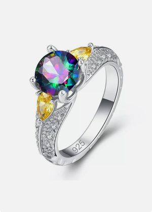 NEW Nuevo Women's Rainbow Topaz Ring Size 7 in Plastic Package for Sale in Modesto, CA