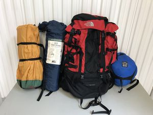 North Face Badlands Internal Frame Backpack Red Hiking Camping (M) And Tent, Etc for Sale in Chicago, IL