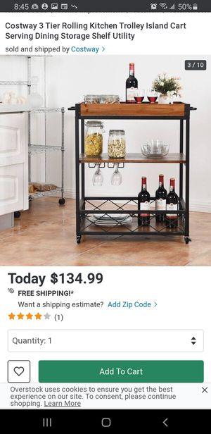 New 3 tier Rolling Kitchen Trolley island Cart for Sale in Riverside, CA