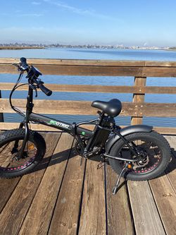Ecotric Matt Black 48V portable and folding fat ebike with LCD display for Sale in Oakland,  CA