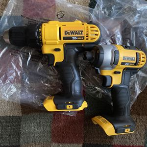 Dewalt 20v Max 1/2in Drill/Driver & 1/4in Hex impact TOOL ONLY ( both for $85.00) New for Sale in San Diego, CA