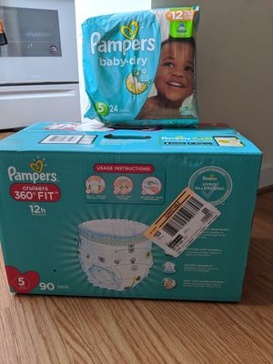 Pampers size 5 for Sale in Newport News, VA