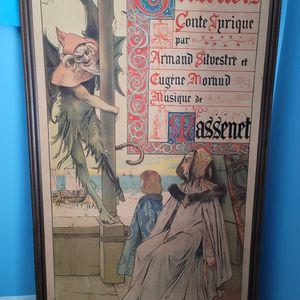Antique Theater Del Opera Comique Poster for Sale in Orlando, FL