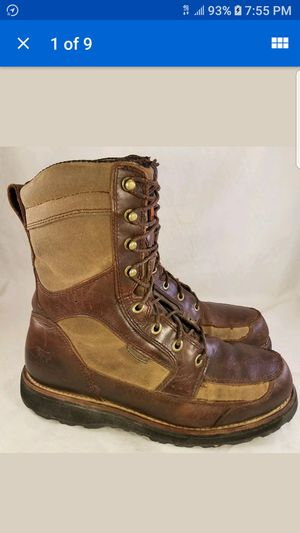 RED WING IRISH SETTER ULTRA DRY WATERPROOF BOOTS 8.5 D CANVAS LEATHER for Sale in Las Vegas, NV
