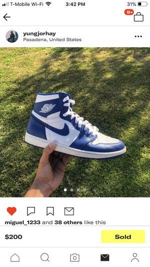 Nike air Jordan 1 storm blue size 10.5 for Sale in Torrance, CA