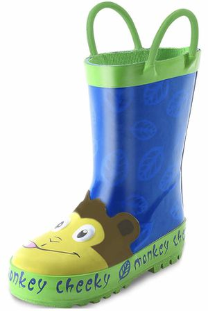 Kids Boy Rain Boots, Waterproof Printed Rubber Rainboots with Easy-On Handles for Toddler/Little Big Kids for Sale in Arlington, TX