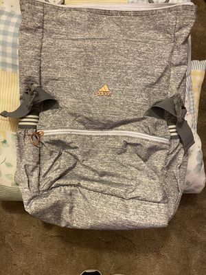Adidas backpack grey with rose gold lettering for Sale in Reno, NV