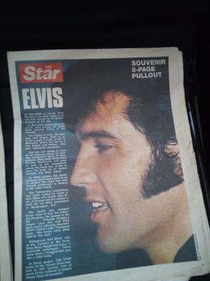 Vintage Elvis news papers for Sale in Charlottesville, VA