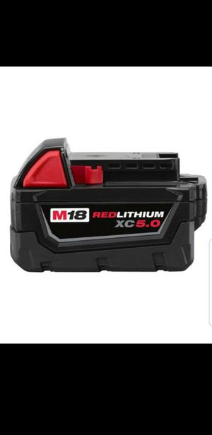 M18 Milwaukee 5.0 XC battery Brand NEW !!!! for Sale in Bakersfield, CA