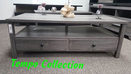 NEW, Dutto Coffee Table, Distressed Grey, SKU 151464CT, SKU# 161564CT for Sale in Westminster,  CA