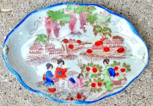 1930s made in japan porcelain pin tray dresser set piece - UNMARKED Mt. FUJI ! for Sale in Saginaw, MI